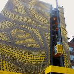 """Yellow Trees"" transforms a building – Yayoi Kusama"