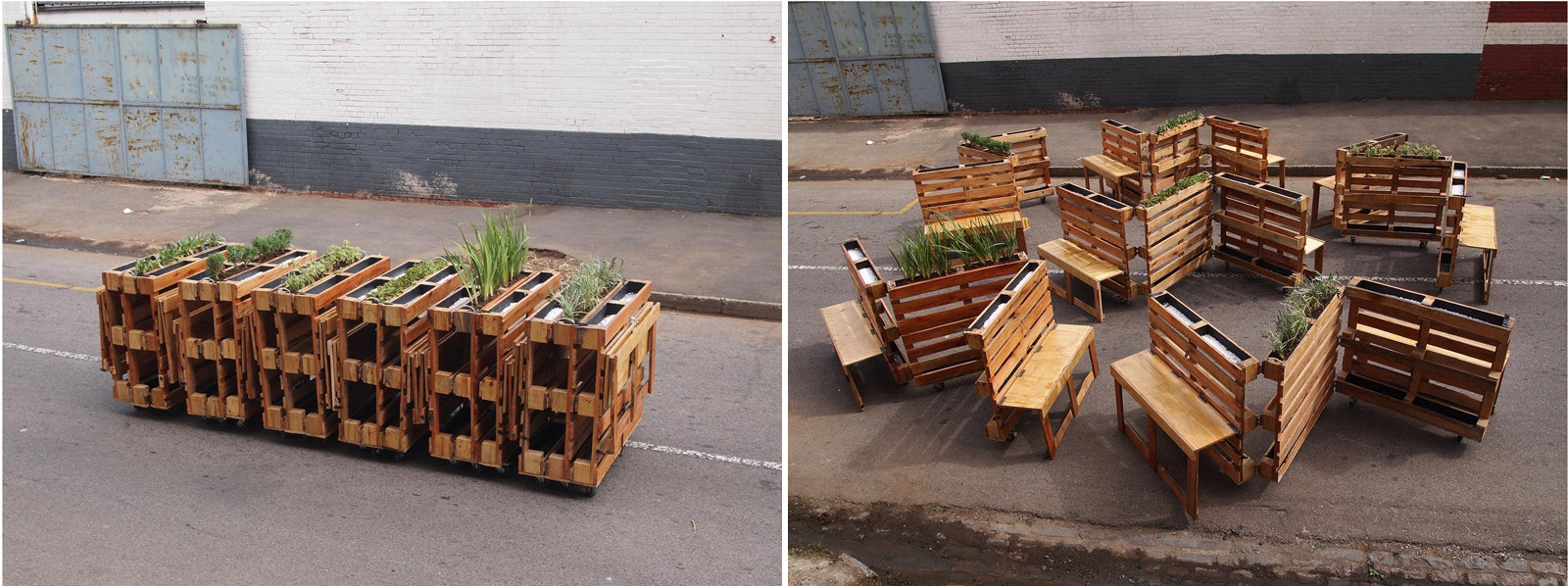 Muebles Pailets - Brothers In Benches Urban Furniture With Recycled Pallets Street [mjhdah]http://www.manualidadesdiy.com/wp-content/uploads/2016/02/paletss.jpg