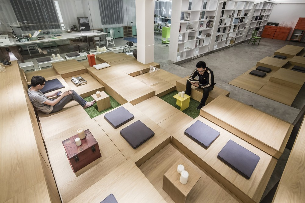 studio office design. 1305 Studio Office: Smart Design Of Furniture To Multifunctional Space | More Than Green Office C