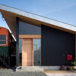 Casa diseñada en torno a un antiguo vagón de tren